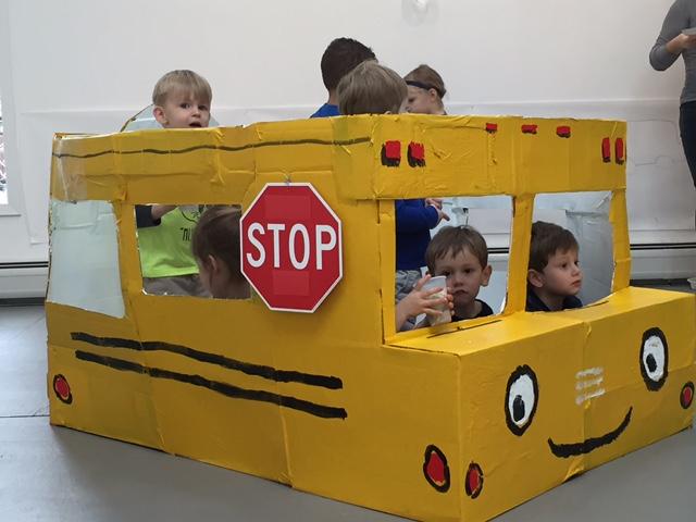 cardboard school bus 2