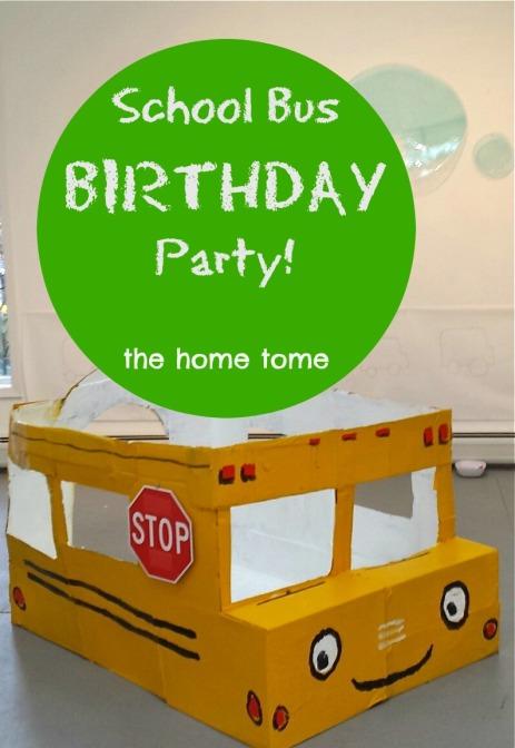 school bus party fun